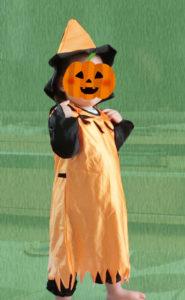 ハロウィンの衣装を着たみこちゃん